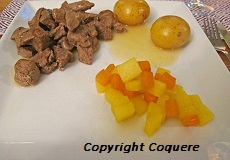 Oksekjøtt med glaserte grønnsaker