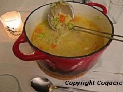 Kjøttdeigsuppe med poteter og grønnsaker