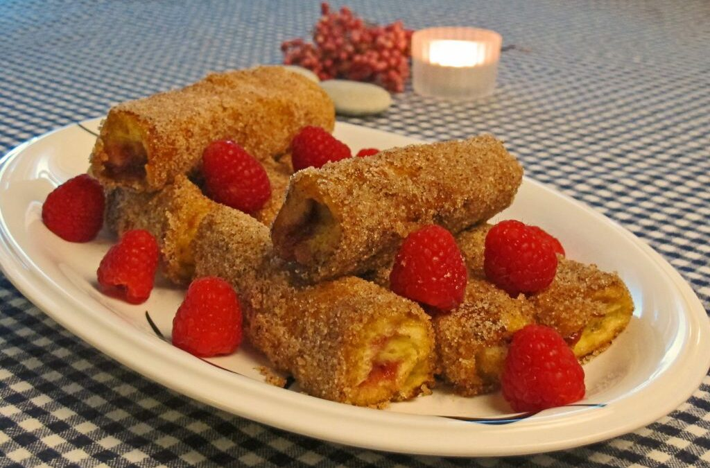Sammenrullede toast (French toast roll-ups)