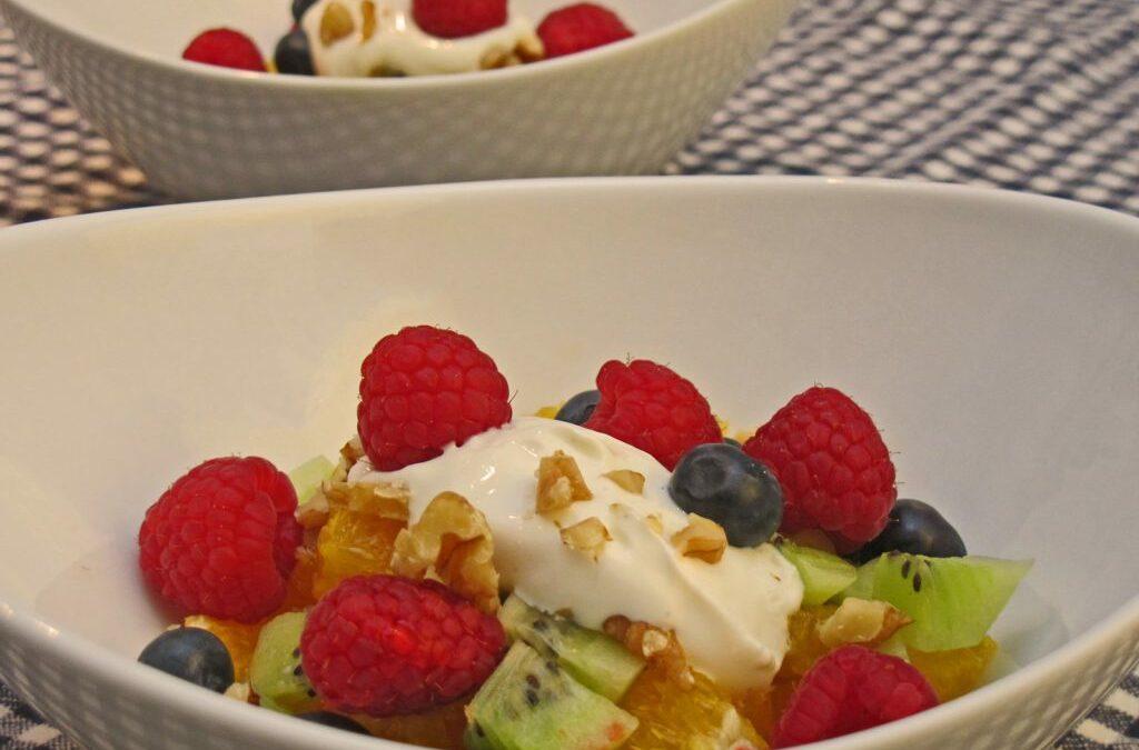 Fruktsalat med kesam
