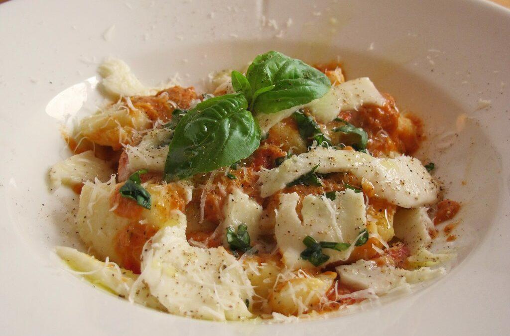Gnocchi pomodori med mozzarella