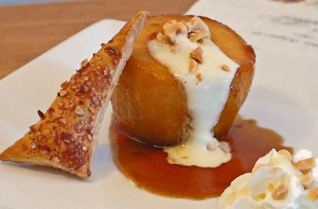 Karamelliserte bakte epler