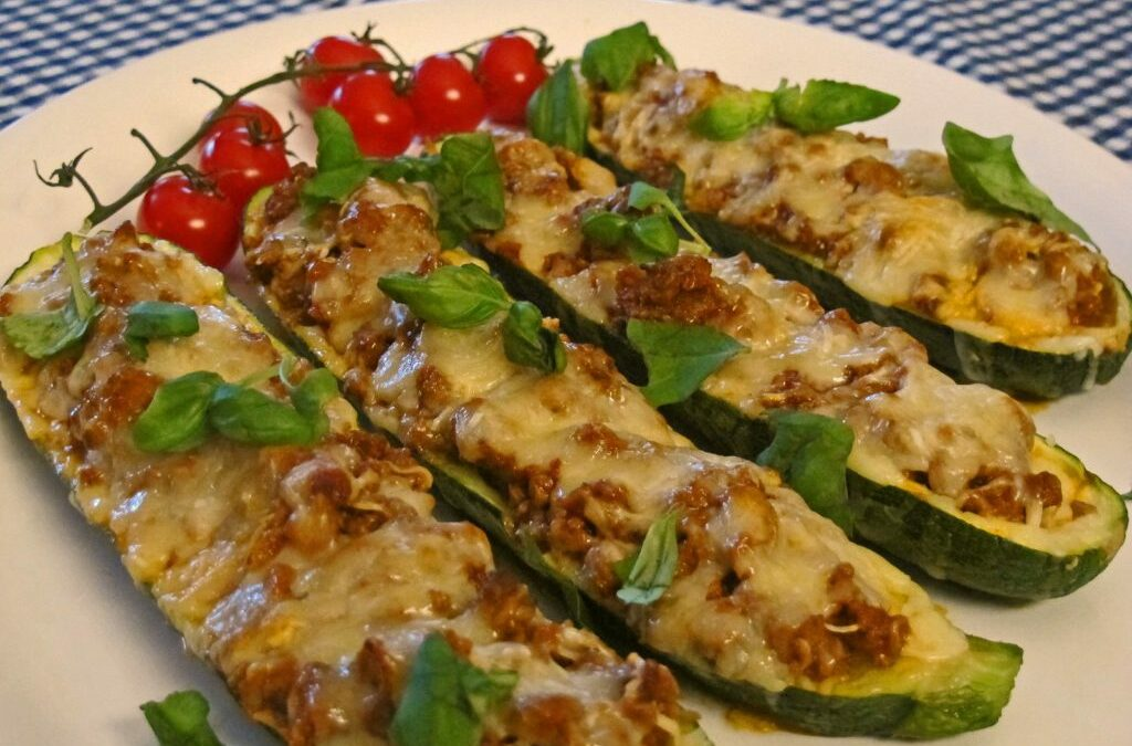 Zucchini boats with filling